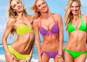 Kolorowe kostiumy Victoria's Secret
