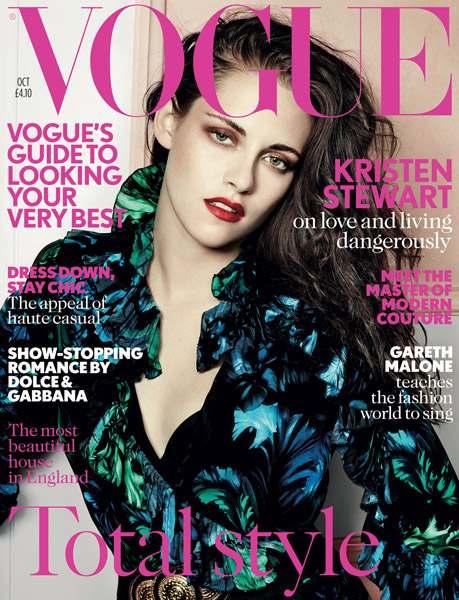 Kristen Stewart w październikowym Vogue UK