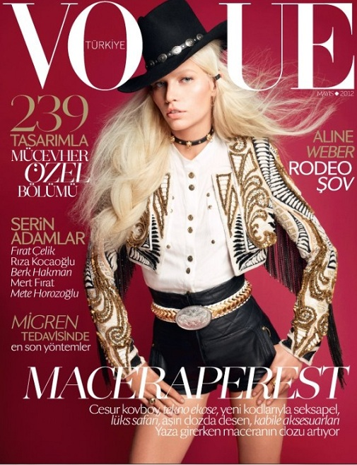 Aline Weber w sukni Lanvin dla meksykańskiego Vogue'a