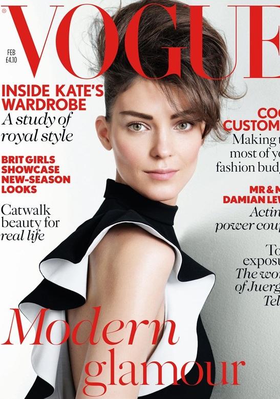 Kati Nescher na okładce lutowego wydania Vogue UK