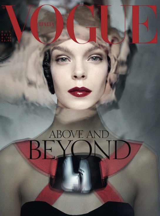 Meghan Collison na okładce październikowego Vogue Italy