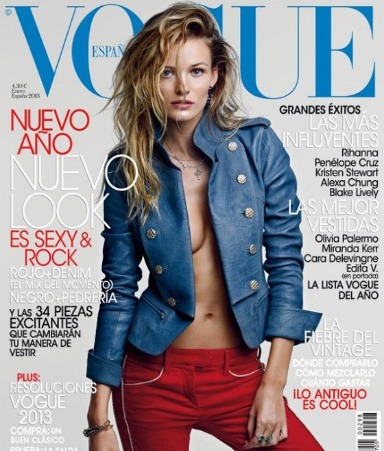 Edita Vilkeviciute w seksownej pozie na okładce Vogue Spain