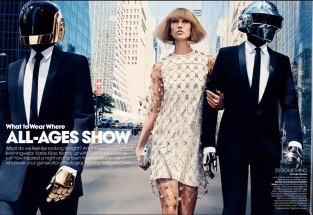 Daft Punk i Karlie Kloss dla Vouge (FOTO+VIDEO)