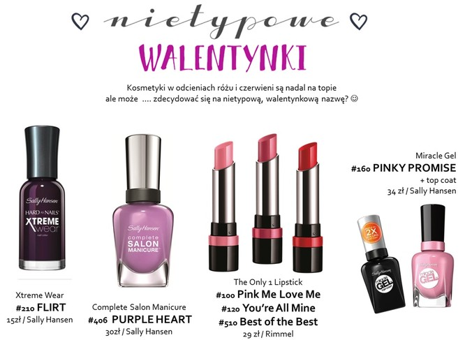 Walentynki 2016 - przegląd kosmetyków na Dzień Zakochanych
