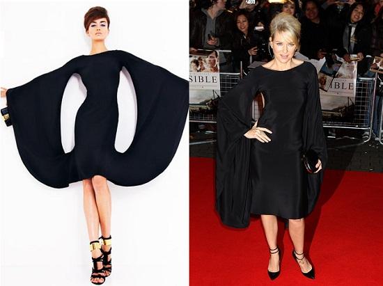 Naomi Watts w czarnej sukni Toma Forda