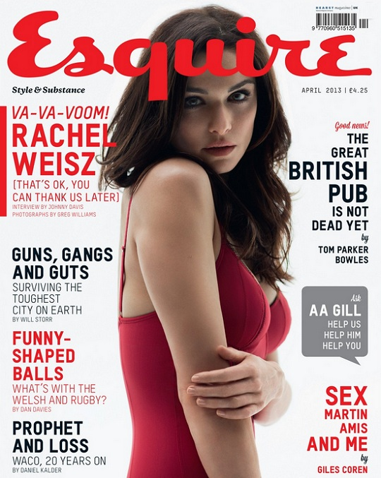Rachel Weisz na kwietniowej okładce Esquire UK