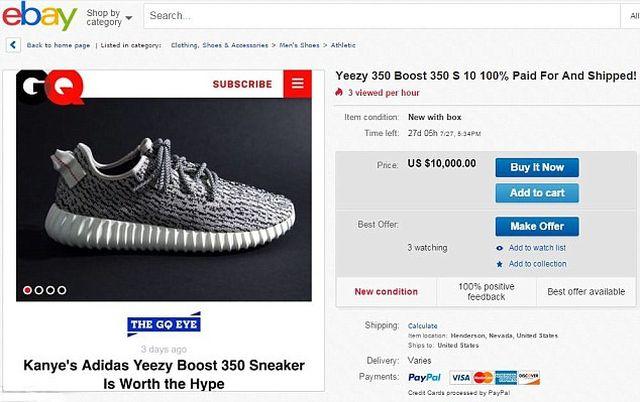 Buty od Kanye West HITEM! Na eBay kosztują fortunę...