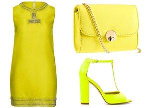 wiosenny trend neonowy żółty