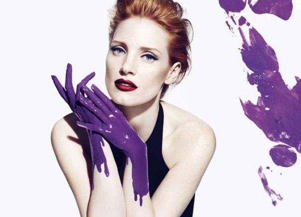 Jessica Chastain  twarzą kampanii Yves Saint Laurent