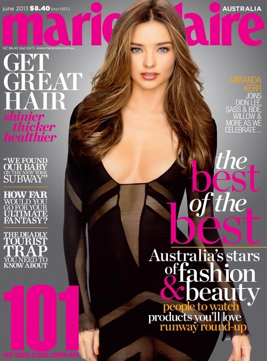 Seksowna Miranda Kerr na okładce Marie Clarie Australia