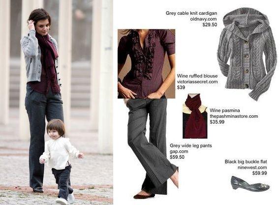 Katie Holmes, moda, stylizacja, trendy, ubrania