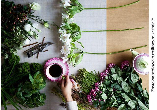 Kwiaty w wystroju wnętrz w jesiennym katalogu Zara Home