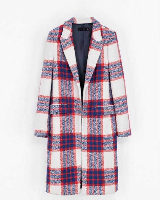 Nicky Hilton - płaszcz w kratę w stylu celebrytki