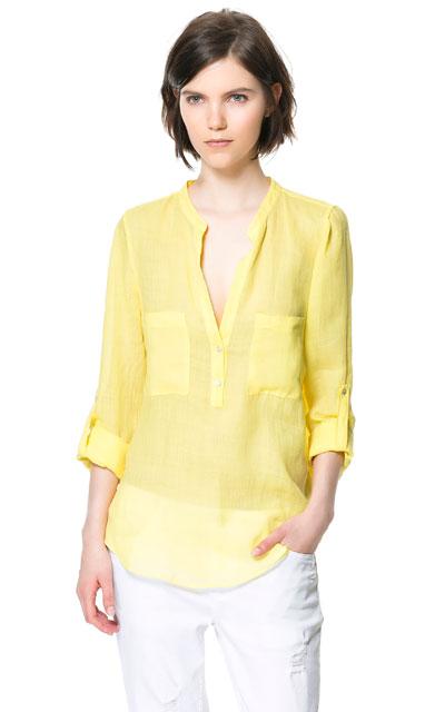 Zara - przegląd koszul lato 2013