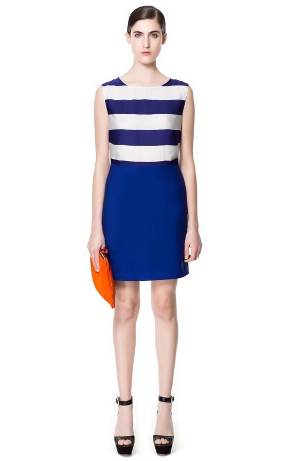 Zara przegląd sukienek na wiosnę 2013