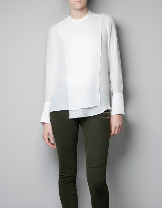 Zara przegląd koszul na sezon jesień-zima 2012/2013