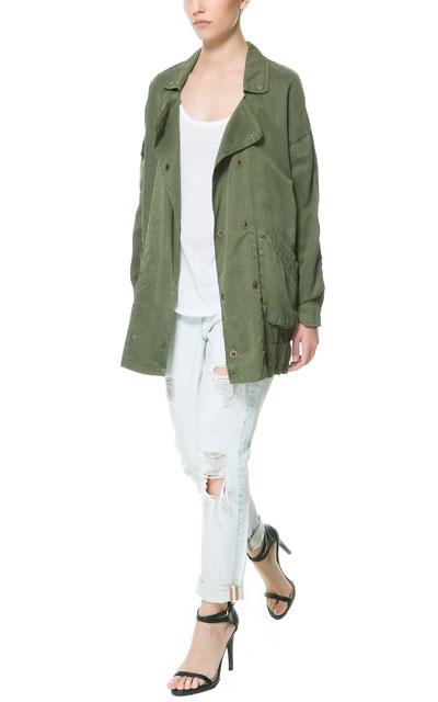 Zara przegląd wiosennych płaszczy i kurtek