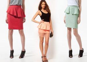 Sukienki i spódnice z baskinką (FOTO)