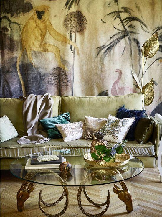 Mocne kolory i roślinne wzory na jesień w kolekcji Zara Home