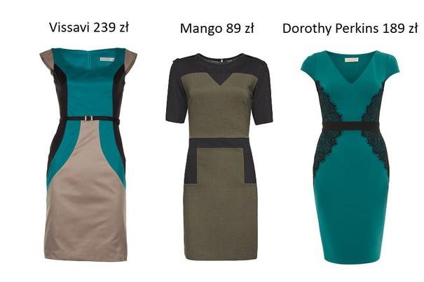 Przegląd sukienek wyszczuplających z kolekcji jesień 2012