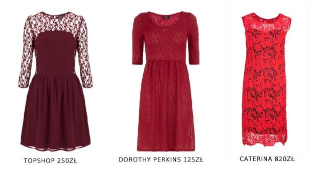 Przegląd koronkowych sukienek na Sylwestra