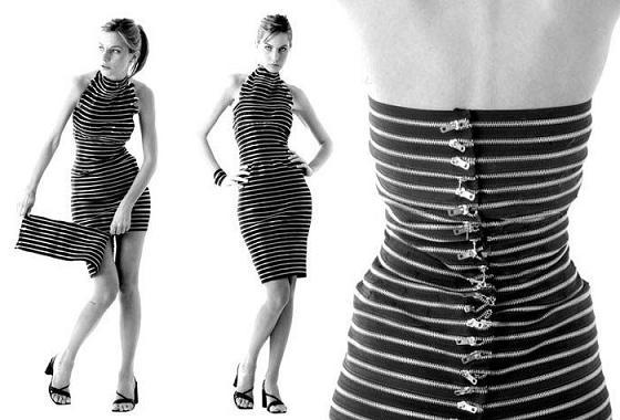 Sukienka cała z zamków