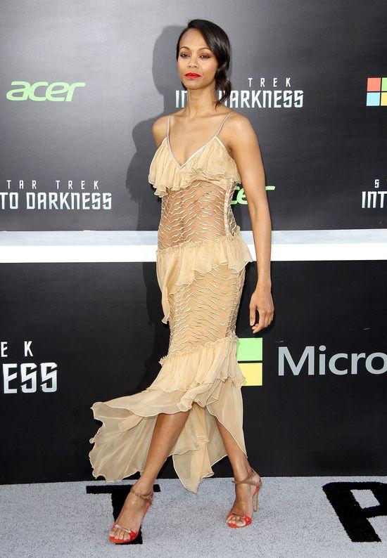 Zoe Saldana w sukience