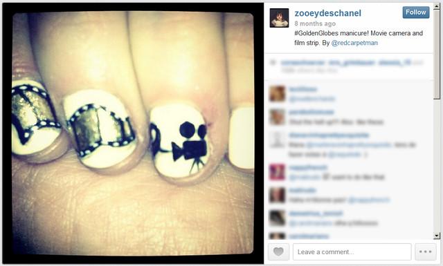 Galowy manicure Zooey Deschanel (FOTO)