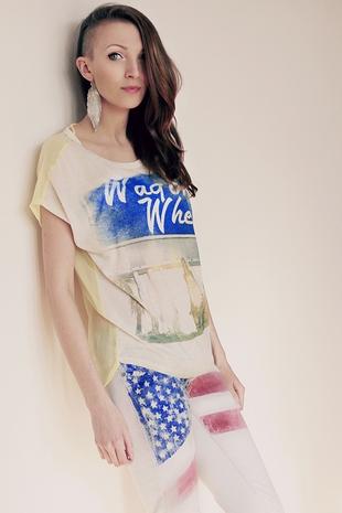 Zrób to sama: jeansy z amerykańską flagą