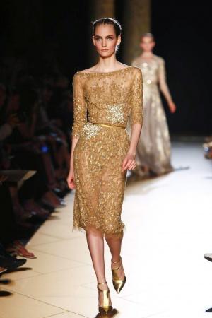 Zoe Saldana w złotej sukience Elie Saab (FOTO)