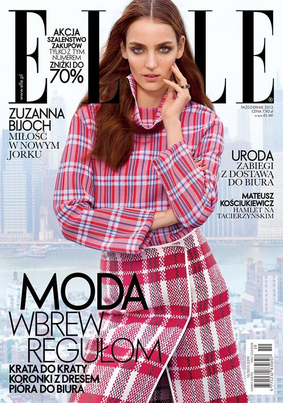 Zuzanna Bijoch na dwóch okładkach polskiego Elle