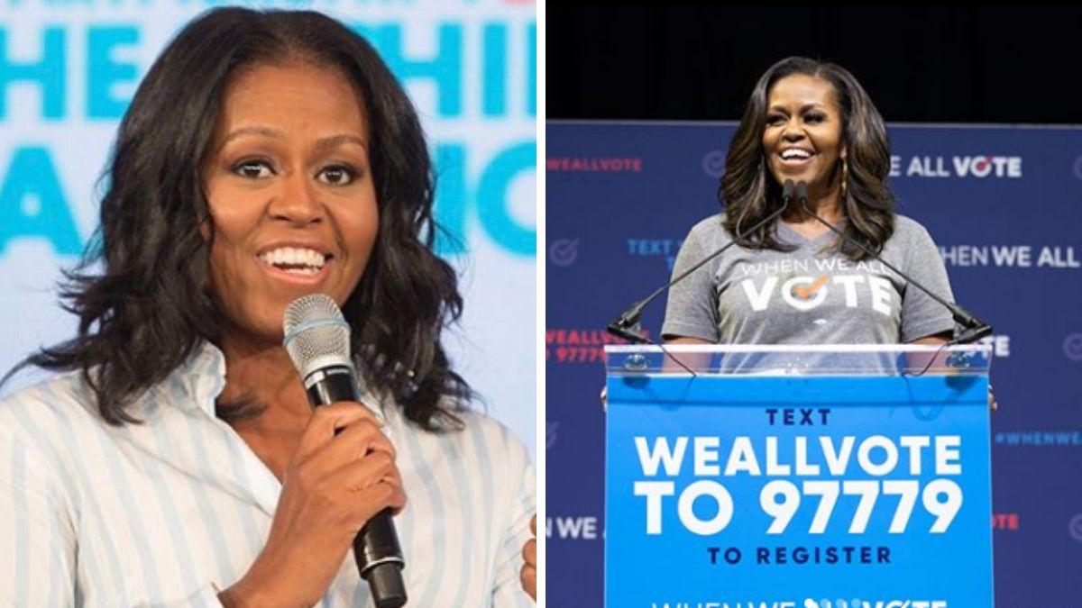 Michelle Obama przyłapana bez peruki. Tak wyglądają jej naturalne włosy