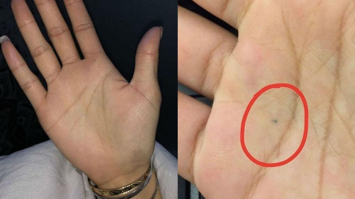 Każdy szuka dziwnej kropki na swoich dłoniach. Podobno wszyscy ją mamy