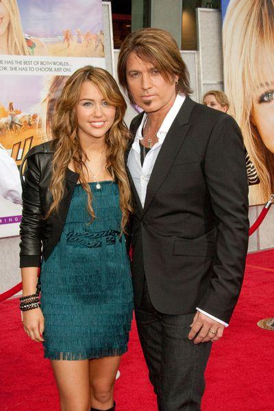 Miley Cyrus na premierze filmu Hannah Montana