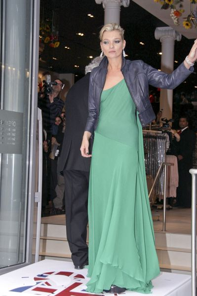 Kate Moss na otwarciu Topshopu