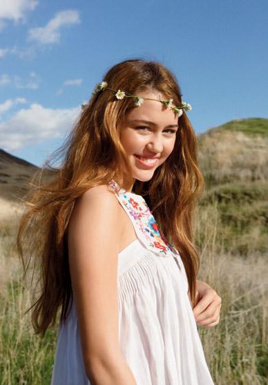 Miley Cyrus w stylu hippie