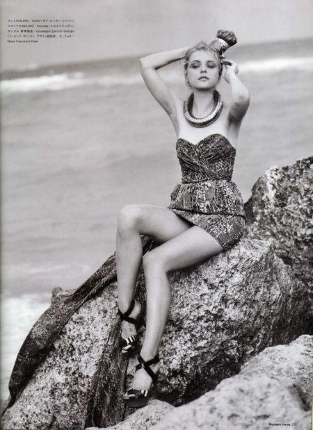 Jessica Stam na plaży Miami