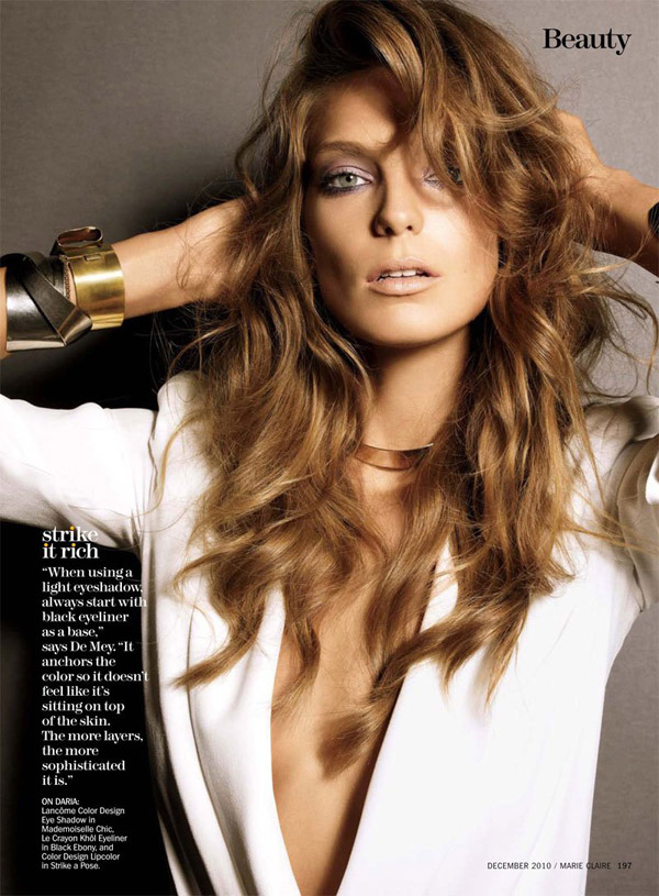 Daria Werbowy w Marie Claire