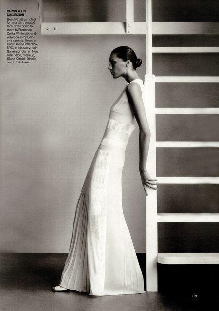 Daria Werbowy w sesji dla Vogue'a