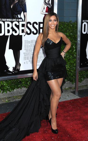 Beyonce w sukni z trenem
