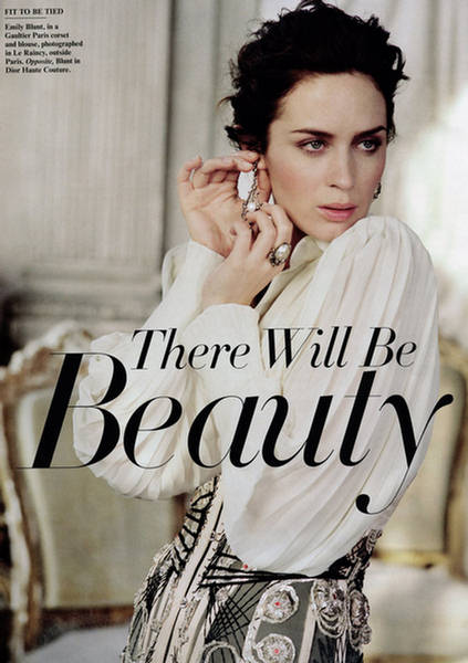 Emily Blunt w niesamowitej sesji haute couture