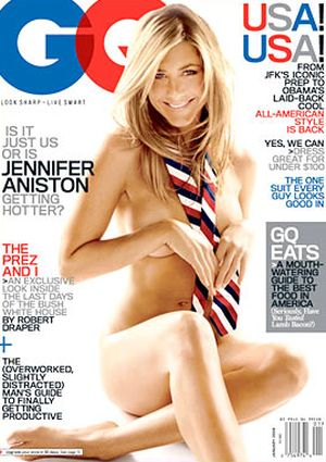 Jennifer Aniston nago dla GQ