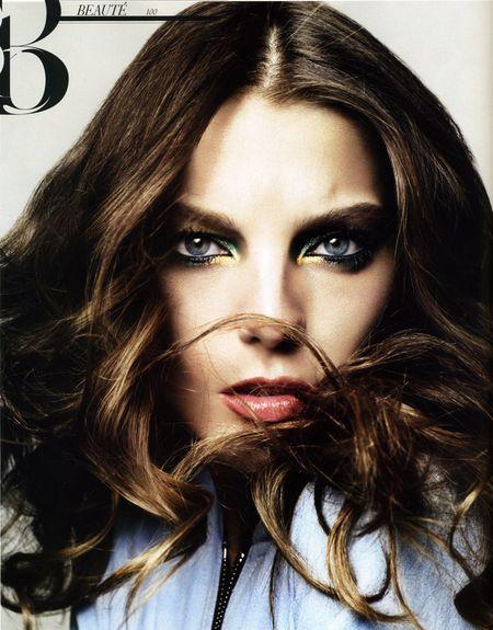 Daria Werbowy prezentuje trendy w makijażu