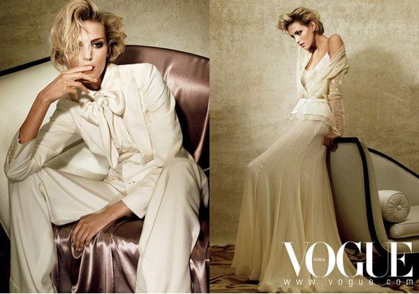 Anja Rubik dla Vogue'a