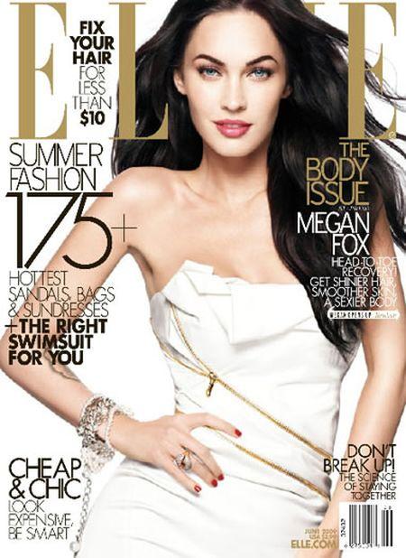 Megan Fox w białej sukience Versace