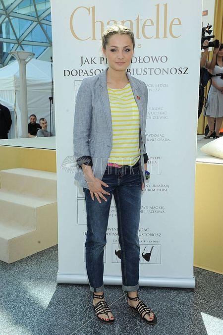 Małgorzata Socha z odrobiną koloru
