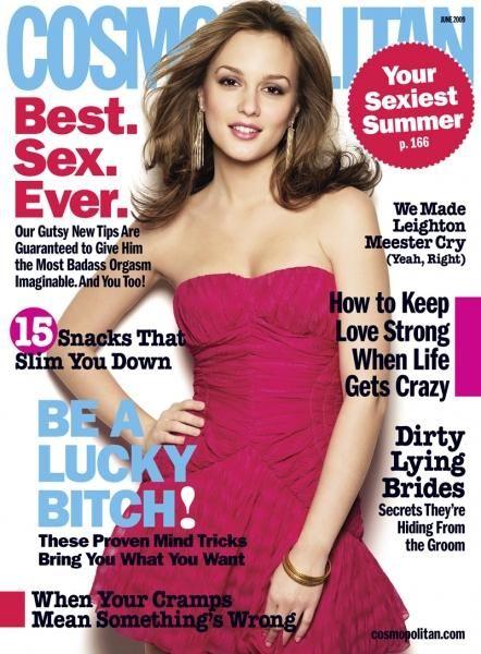 Leighton Meester dla Cosmopolitan