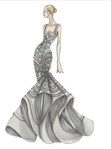 Эскизы моделей одежды рисунки.