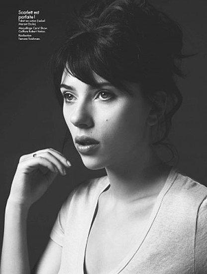 Scarlett Johansson prawie bez makijażu