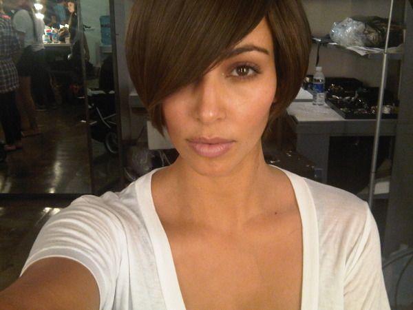 Kim Kardashian w krótkiej fryzurce